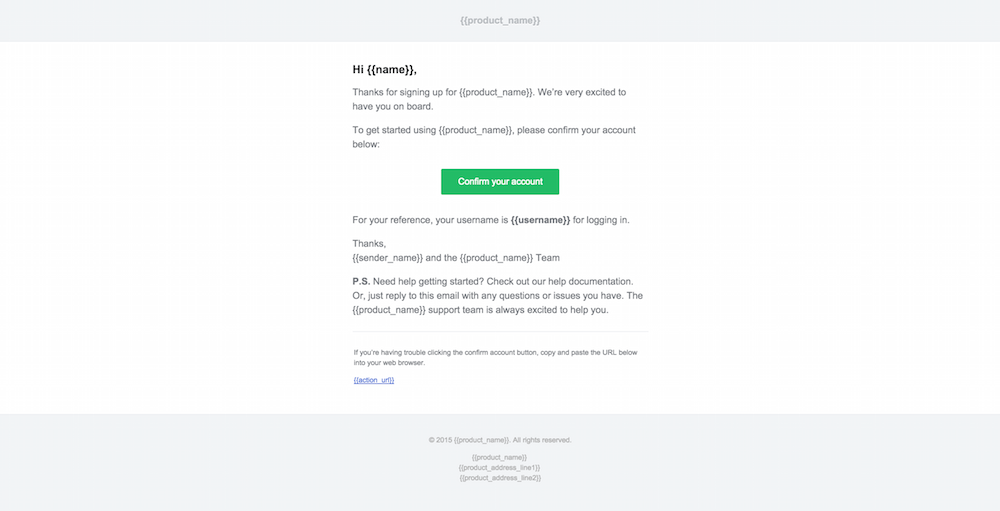 welcoming email template