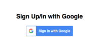 Sign up/in with Google
