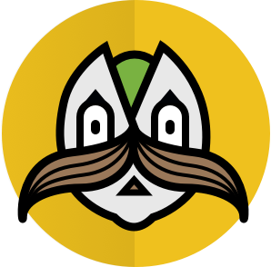 The Mustachio logo.