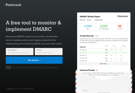 A free tool to monitor and implement DMARC