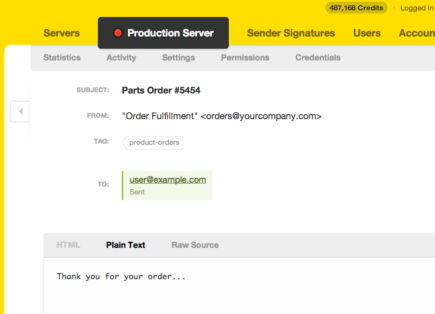 Sorting and cataloguing messages by tags in Postmark is easy!