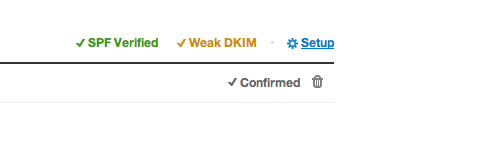 Make sure your DKIM signature is strong on the Postmark Sender Signature page