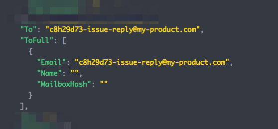 """Image of code sample showing """"To"""" generated email address"""