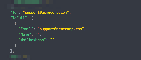"""Image of code sample showing the original """"To"""" email address"""