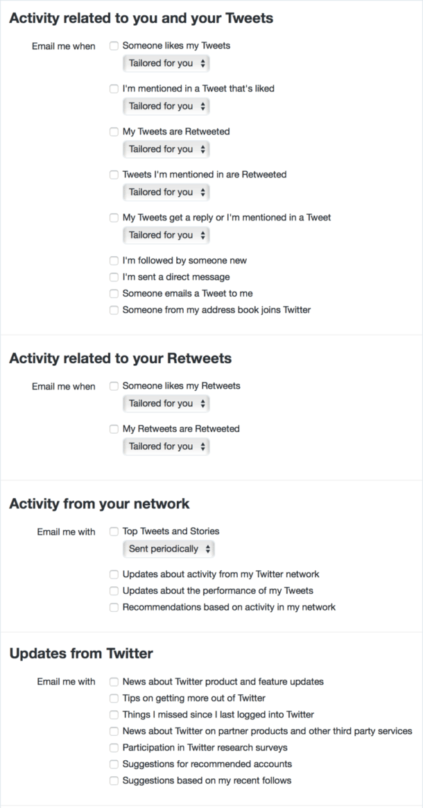 Twitter notification management