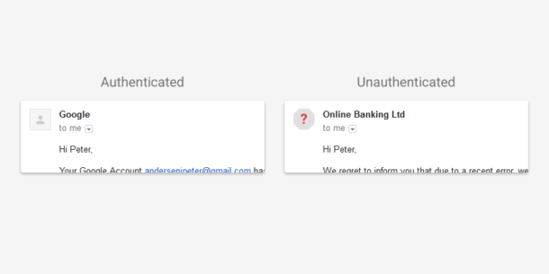 How Gmail displays sender images for authenticated domains