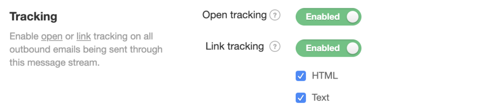 Enable Postmark Open Tracking