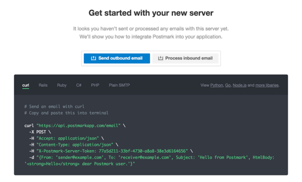 Improvements to our server onboarding experience | Postmark