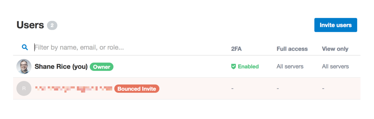Bounce notice in the Postmark permission dashboard