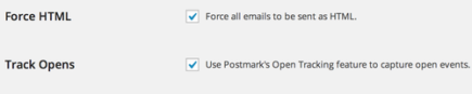 Turn on open tracking in Postmark's Wordpress plugin