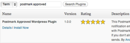 Postmark approved Wordpress plugin