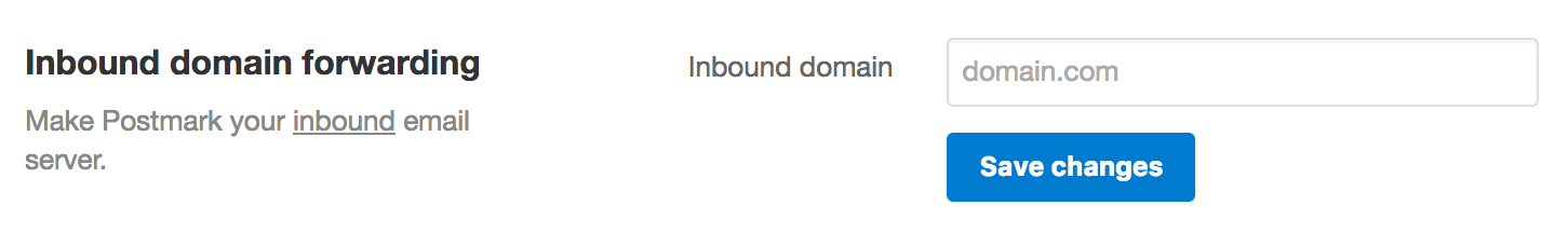 Set the Inbound Domain using the UI