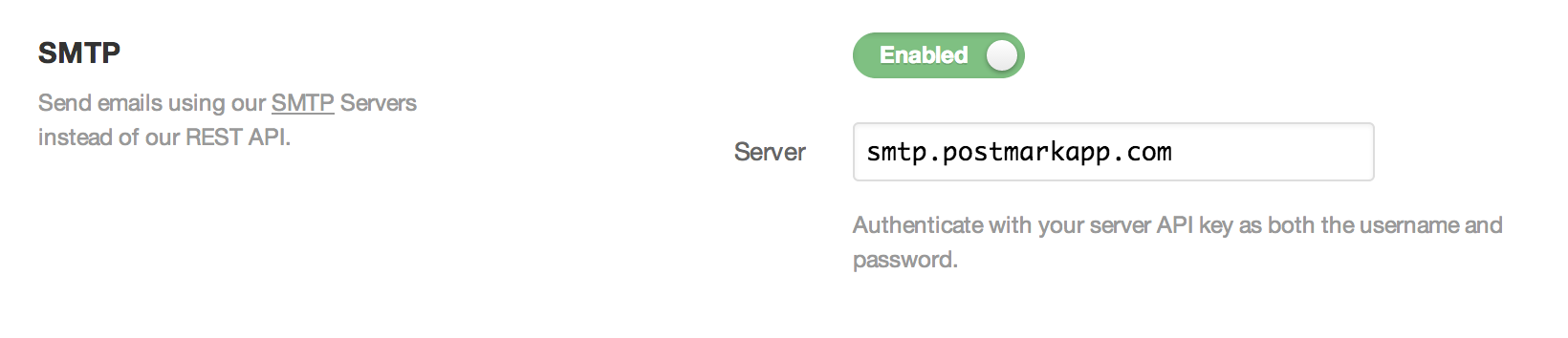 Enable SMTP