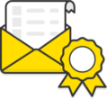 Illustration: An open envelope showing an example invoice