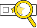 Illustration: A magnifying glass inspecting a starred email item in a mail client