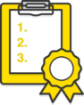 Illustration: A clipboard listing a numbered set of tasks