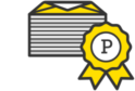 Stack of emails with Postmark ribbon