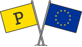 Postmark and EU flags