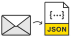 An email converting to JSON.