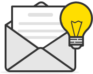 Email with a lightbulb
