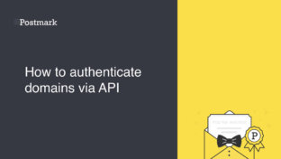 Authenticating domains via API